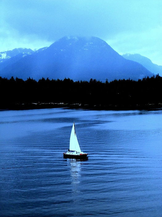 Sailboat Photograph - Sailboat 1 by Randall Weidner