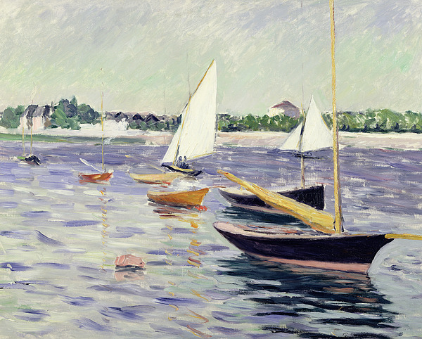 Sailing Painting - Sailing Boats At Argenteuil by Gustave Caillebotte
