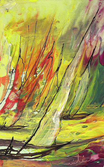 Sports Painting - Sailing Impression 04 by Miki De Goodaboom