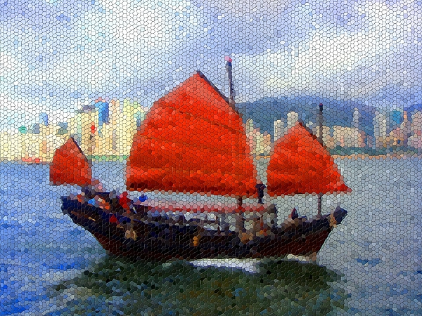 Mosaic Photograph - Sailing On The East by Roberto Alamino