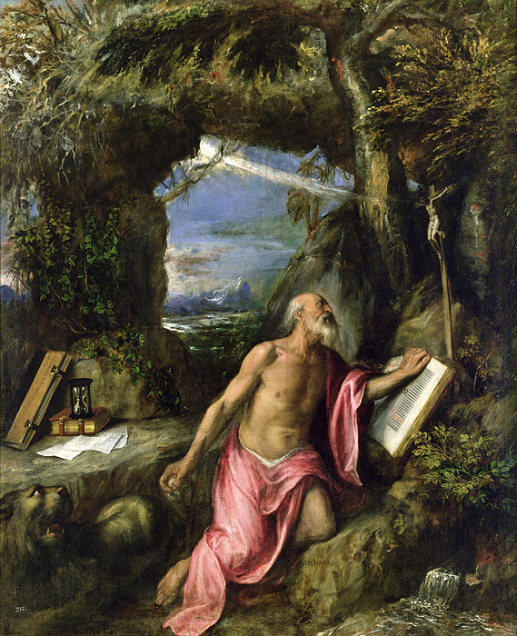 Jerome Painting - Saint Jerome by Titian