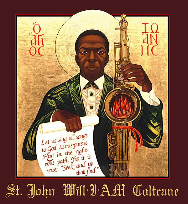 Saint John Coltrane. Black Christ Religion Painting - Saint John The Divine Sound Baptist by Mark Dukes