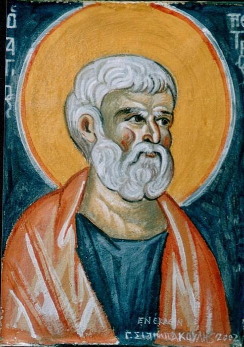 Icons.byzantine Icons.encaustic Paintings.encaustic Byzantine Icons.saint Peter Encaustic Icon.encaustic Wall Paintings Painting - Saint Peter by George Siaba