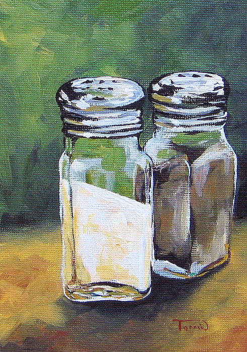 Salt Painting - Salt And Pepper I by Torrie Smiley
