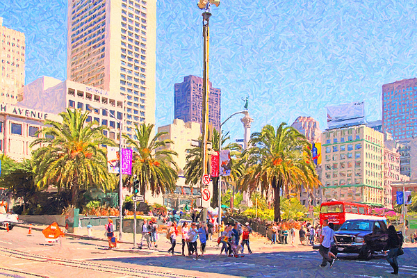 San Francisco Photograph - San Francisco Union Square by Wingsdomain Art and Photography