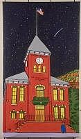 San Miguel County Court With Falling Star Painting