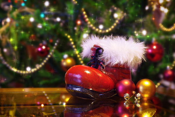 Background Photograph - Santa-claus Boot by Carlos Caetano