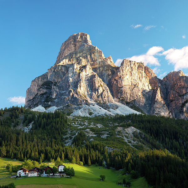 Sassongher At Sunrise, Alta Badia Print by Matteo Colombo