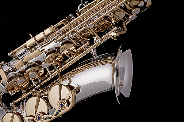 Saxophone Photograph - Saxophone Isolated Black by M K  Miller