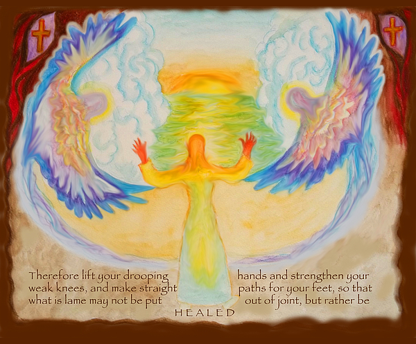 Scripture Illus. Hebrews Lift Your Drooping Hands Painting