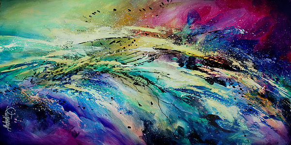 Abstract Painting - Sea Of Souls by Michael Lang