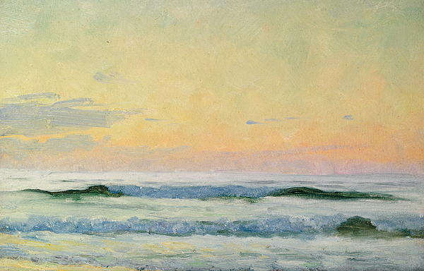 Seascape Painting - Sea Study by AS Stokes