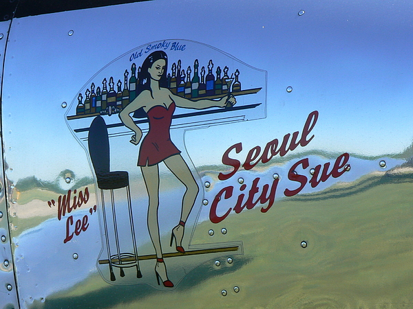 Aircraft Art Photograph - Seoul City Sue by Ron Hayes