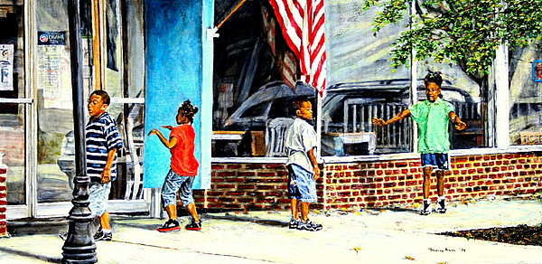 America Painting - Shadows And Relections by Thomas Akers