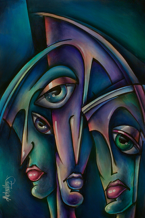 Portrait Painting - Shadows by Michael Lang
