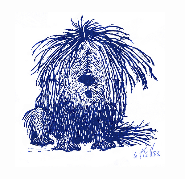 Dog Painting - Shaggy by Barry Nelles Art