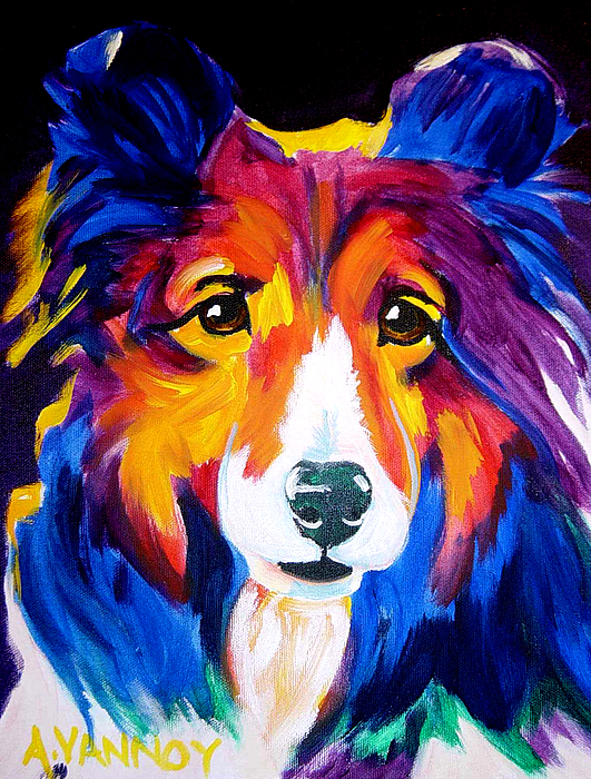 Dog Painting - Sheltie - Missy by Alicia VanNoy Call