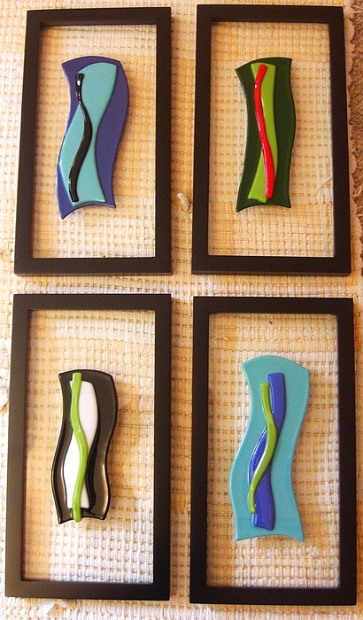 Fused Glass Glass Art - Simply Simple  by Judy Jones