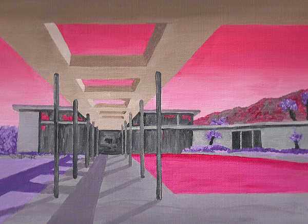 Architecture Painting - Sinatra House Two by Randall Weidner