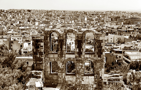 Six Arches In Athens Photograph - Six Arches In Athens by John Rizzuto