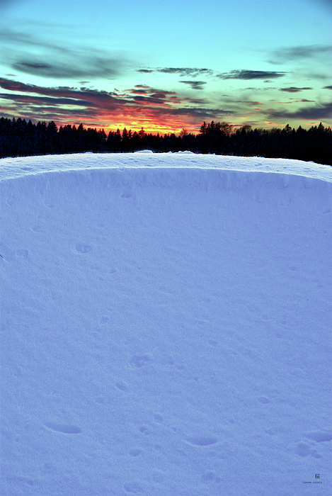 Winter Photograph - Snow Drift by Hannes Cmarits