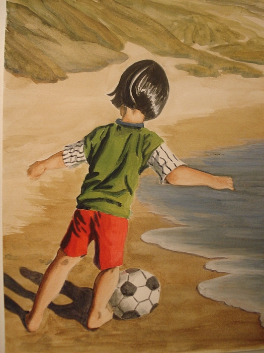 Soccer Child Painting