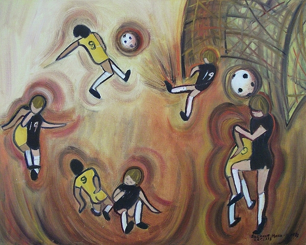 Soccer Painting - Soccer by Suzanne  Marie Leclair
