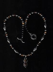 Sold  Tiger Eye Necklace With Pendant Jewelry
