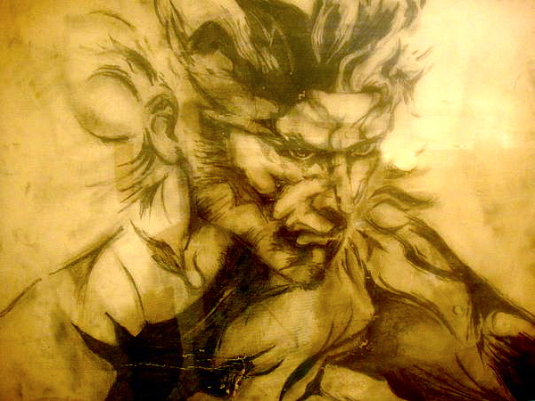 Playstation Drawing - Solid Snake by Sabrina Phillips