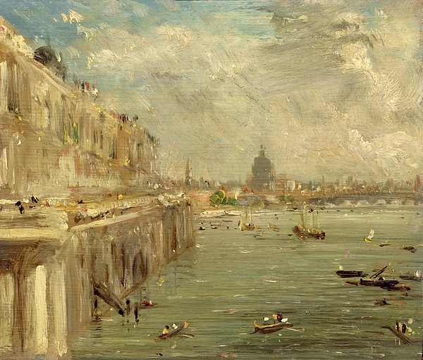 Somerset Painting - Somerset House Terrace From Waterloo Bridge by John Constable