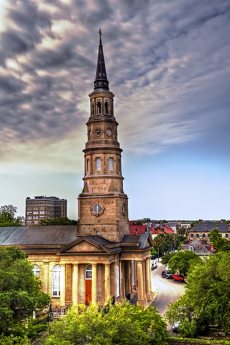 Church Photograph - South Charleston Skyline by Drew Castelhano