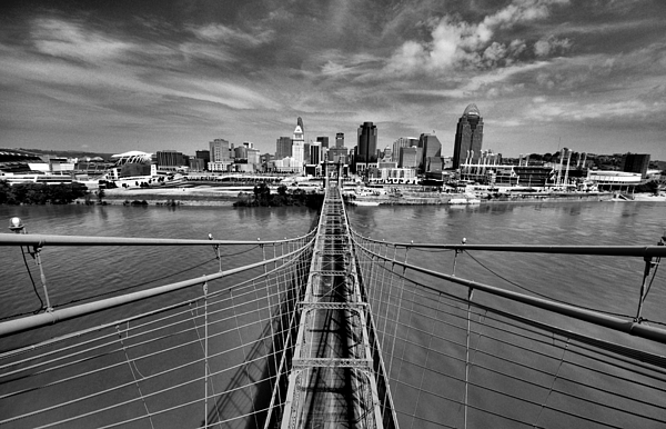Roebling Bridge Photograph - South Tower by Russell Todd
