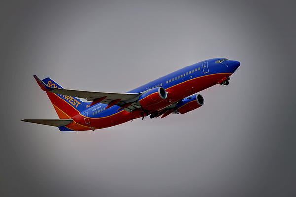 737 Photograph - Southwest Departure by Ricky Barnard