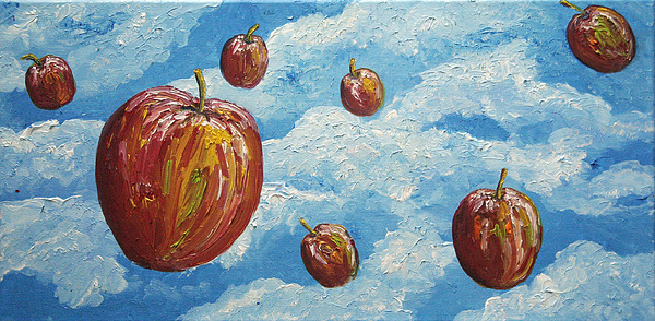 Space Apples Painting