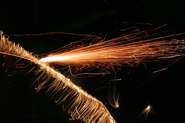 Sparks Photograph - Sparks Will Fly by Kristin Elmquist