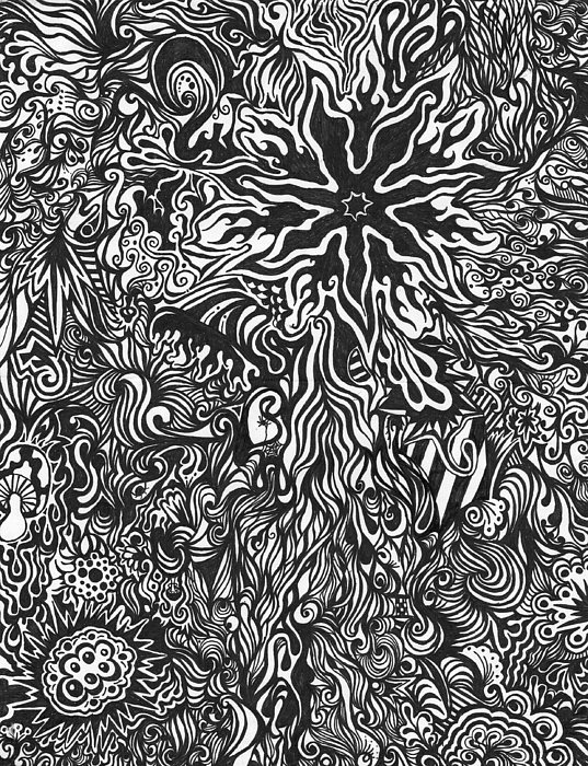 Abstract Drawing - Spiders Web by Mandy Shupp