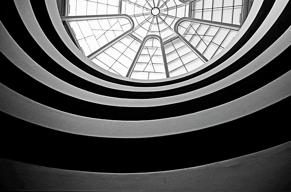 America Photograph - Spiral Staircase And Ceiling Inside The Guggenheim by Sami Sarkis