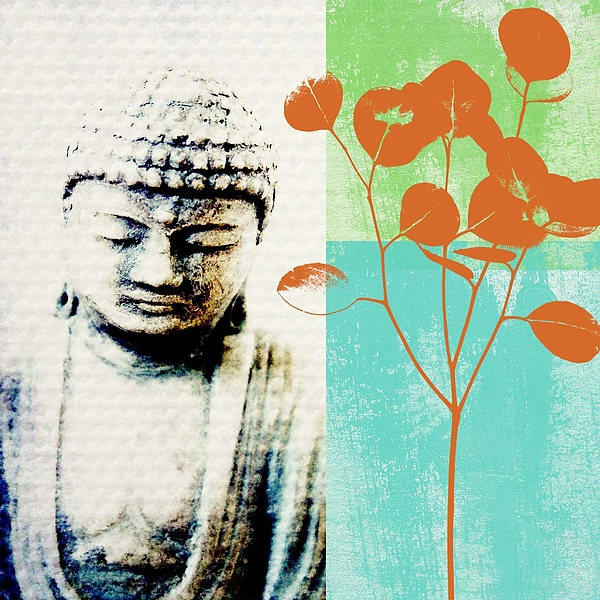 Buddha Mixed Media - Spring Buddha by Linda Woods