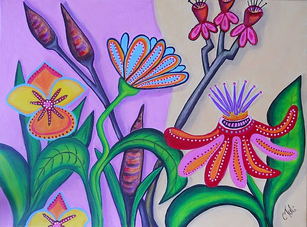Abstract Painting - Spring by Claudia Tuli