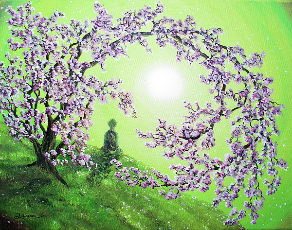 Painting Painting - Spring Morning Meditation by Laura Iverson