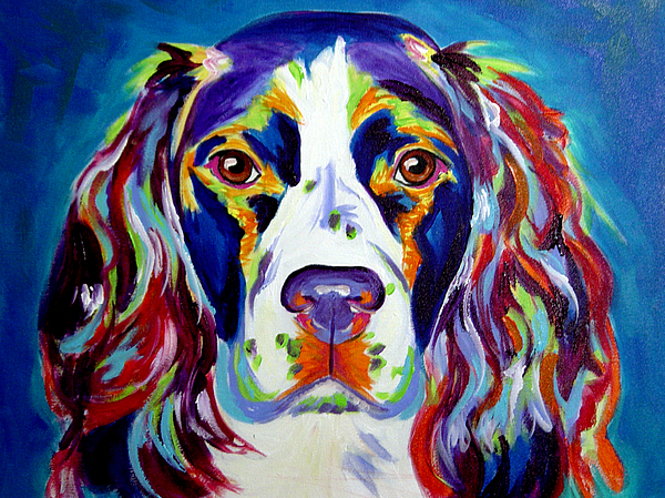 Dog Painting - Springer Spaniel - Cassie by Alicia VanNoy Call