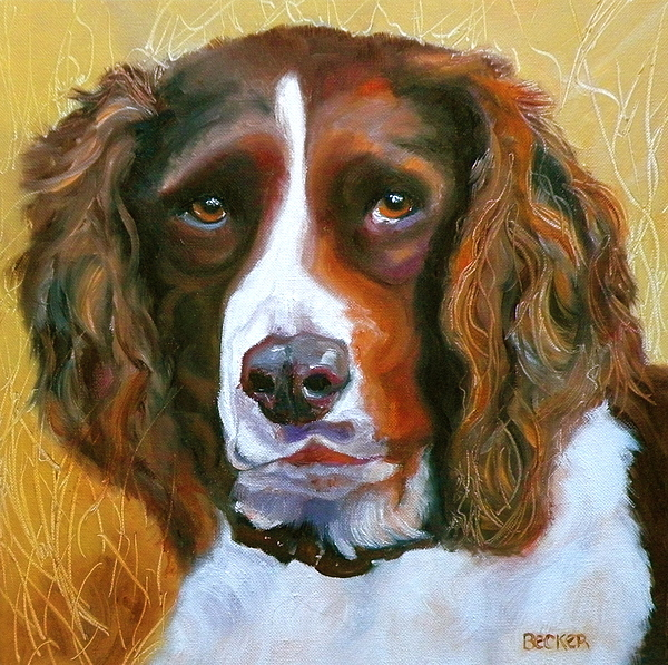 Dogs Painting - Springer Spaniel by Susan A Becker