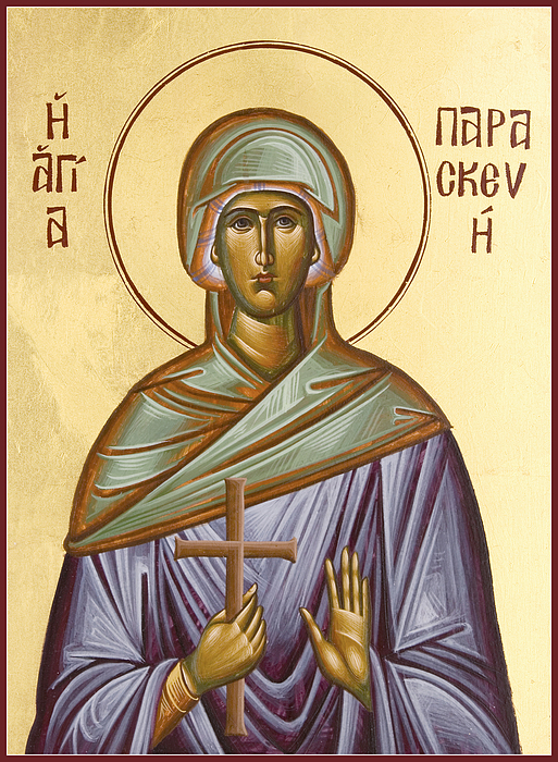 Icon Painting - St Paraskevi by Julia Bridget Hayes