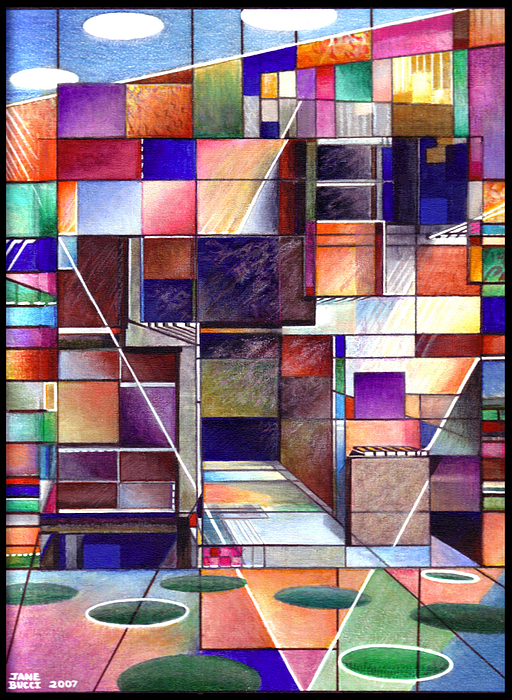 Stained Drawing - Stained Glass Factory by Jane Bucci