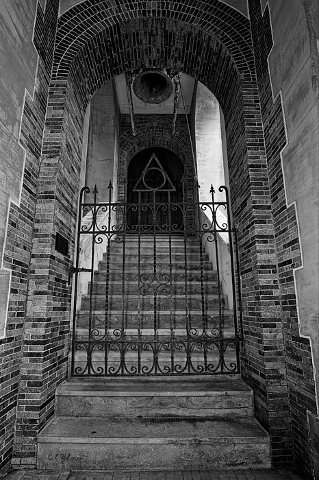 Stairs Photograph - Stairs Beyond B-w by Christopher Holmes