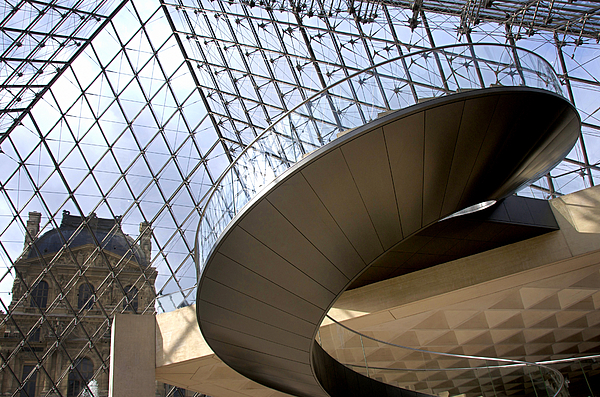 Stairs In Louvre Museum. Paris.  Photograph