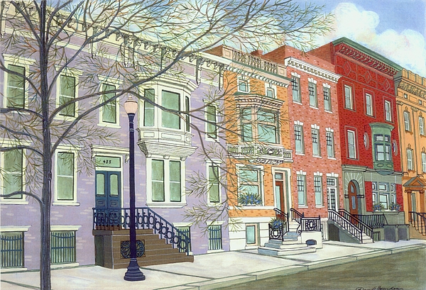City Painting - State Street by David Hinchen