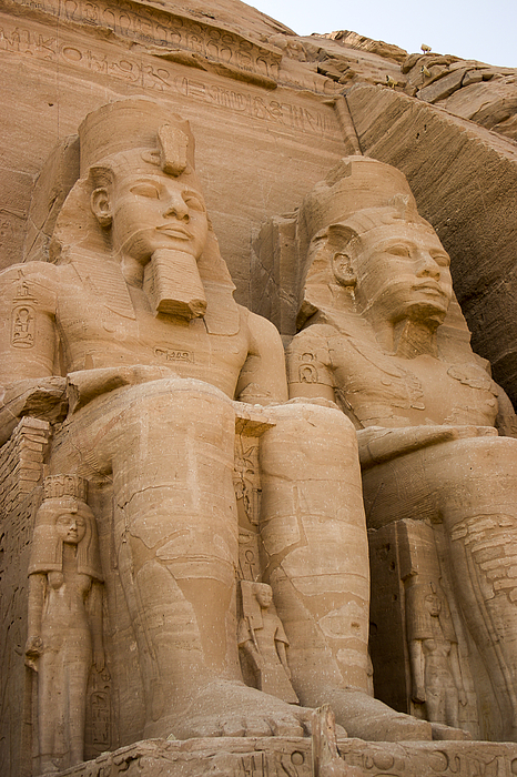 Abu Simbel Photograph - Statues At Abu Simbel by Darcy Michaelchuk