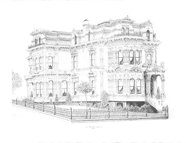 San Francisco Drawing - Stetson Mansion by Edward Williams