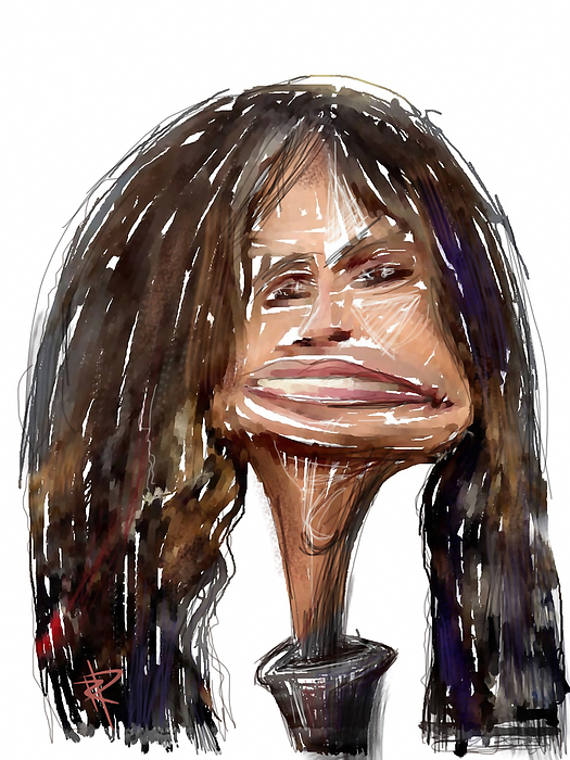 Steven Tyler Mixed Media